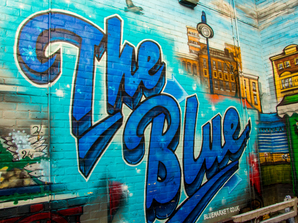 The Blue Street Art