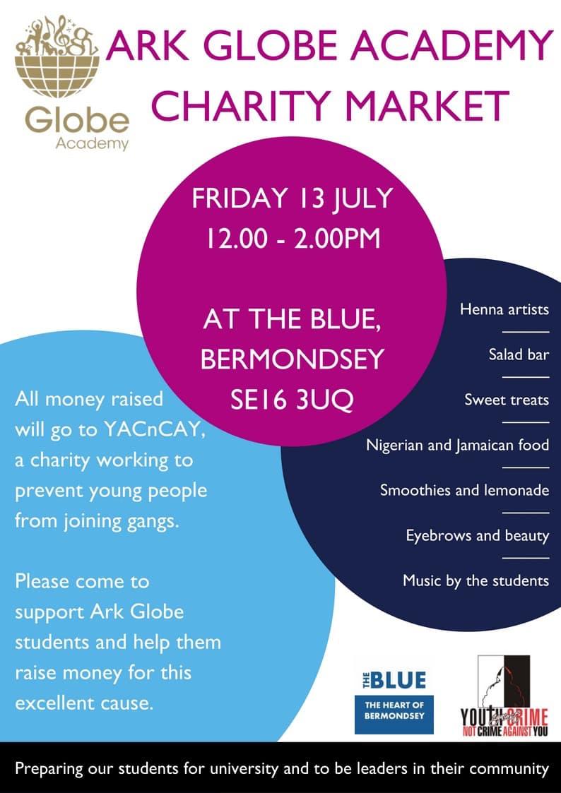 Globe Academy Charity Market at The Blue Market