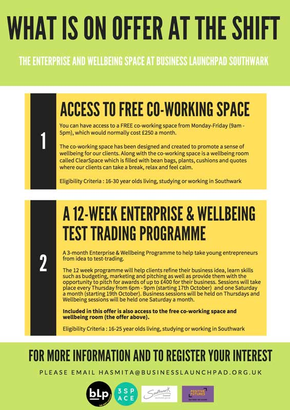 The Shift - Business Launchpad's Enterprise and Wellbeing Space
