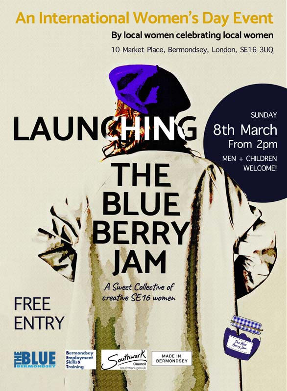 The Blue Berry Jam, an event for International Women's Day