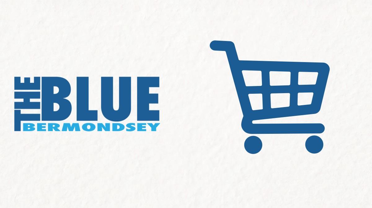 Blue Shops Banners supermarket
