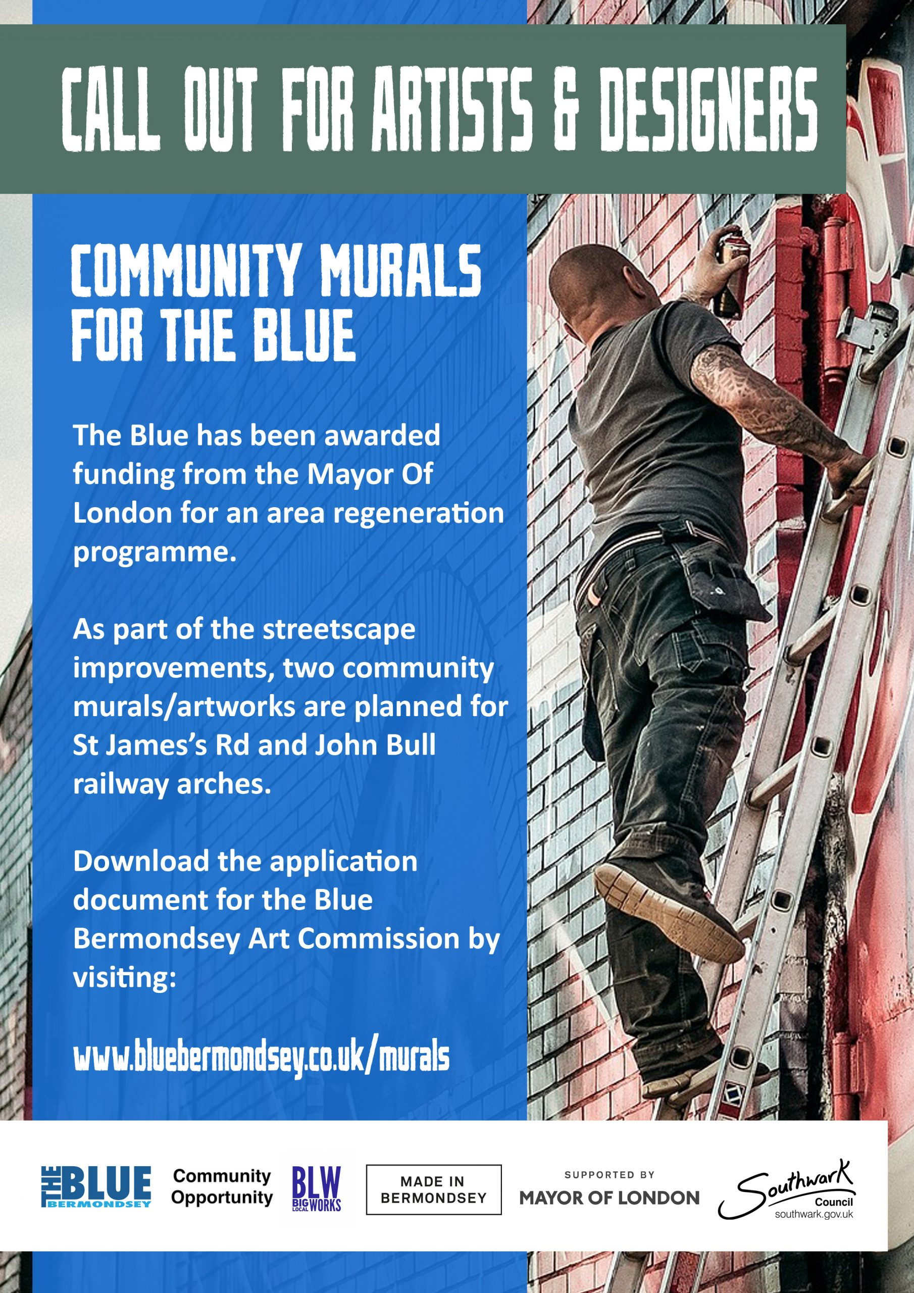 Blue Bermondsey Community Murals, Call Out for Artist and Designers