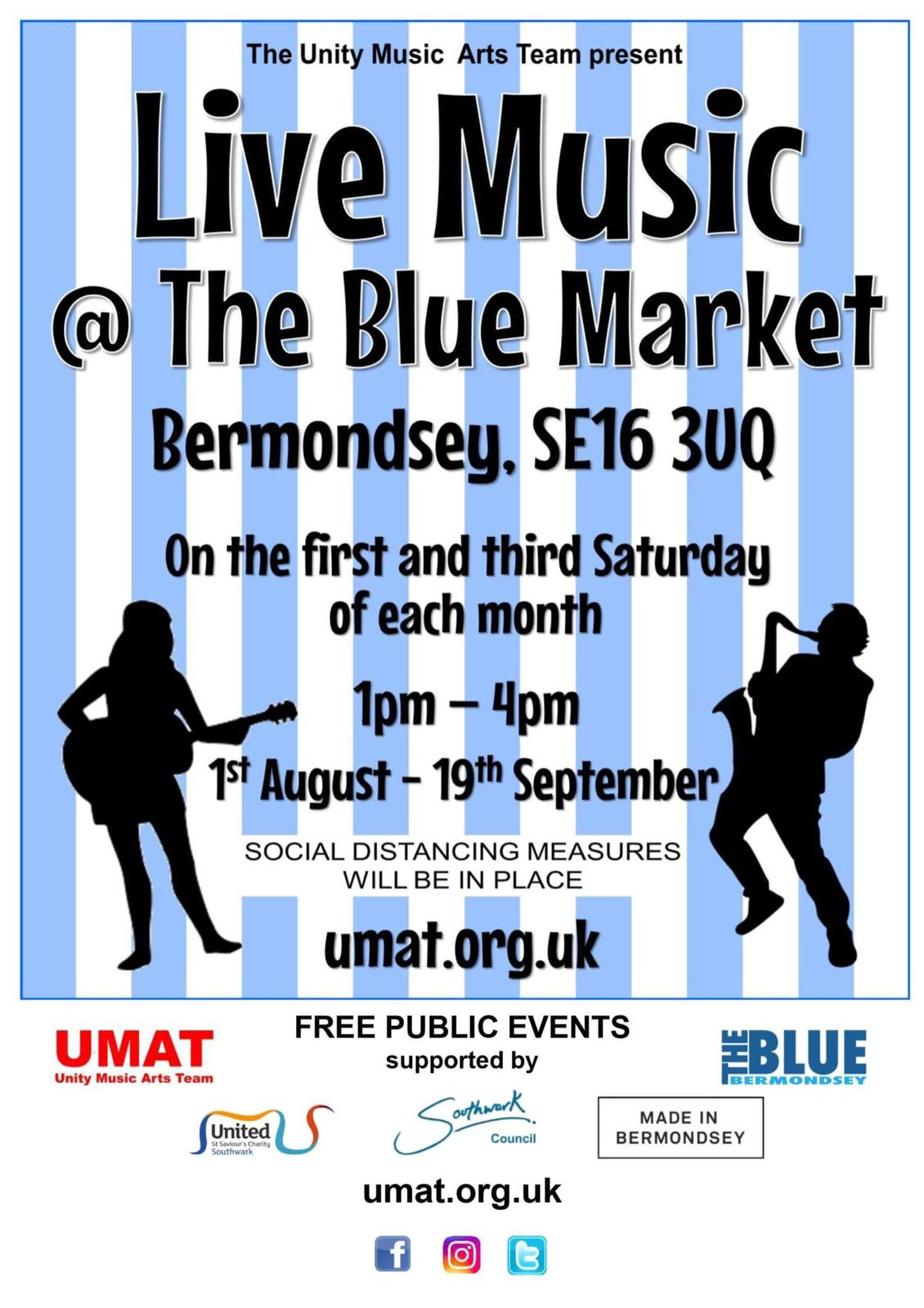 Blue Bermondsey Music Galas in The Blue Market